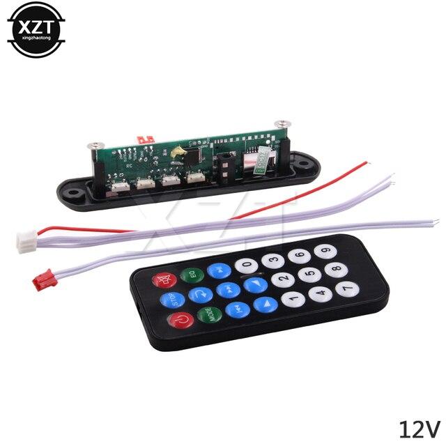 מכירה לוהטת 5 V 12 V MP3 מפענח לוח חיתם מרחוק SD MP3 נגן שלט רחוק מודול FM Usb 2.0 3.5mm שקע מחבר
