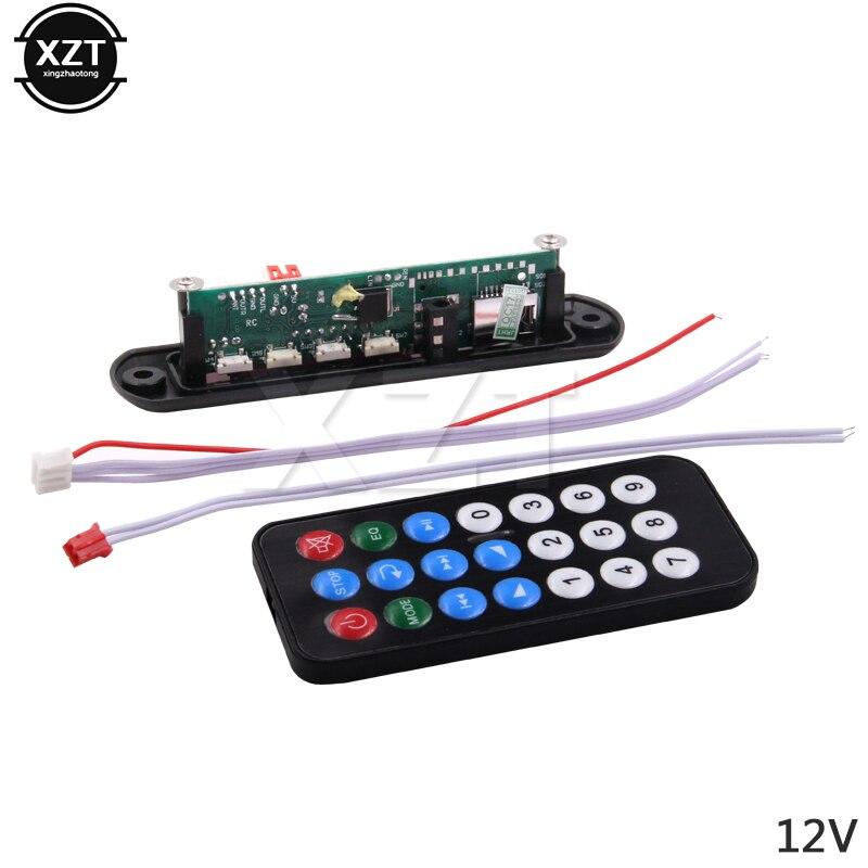 Hot Selling 5V 12V MP3 Decoder Board Hitam Remote SD MP3 Player Remote Control Module FM Usb 2.0 3.5 mm Jack Connector