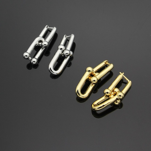 High Quality Titanium Steel  Fashion Gold/Silver Earrings High Quality Earrings For Woman Party Wedding Jewelry Boucle D'