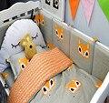 3Pcs/Sets Cotton Baby Bedding Set Cartoon Pattern Reactive Printing Cot Bedding Quilt Cover Baby Cot Sheet Crib Organizer