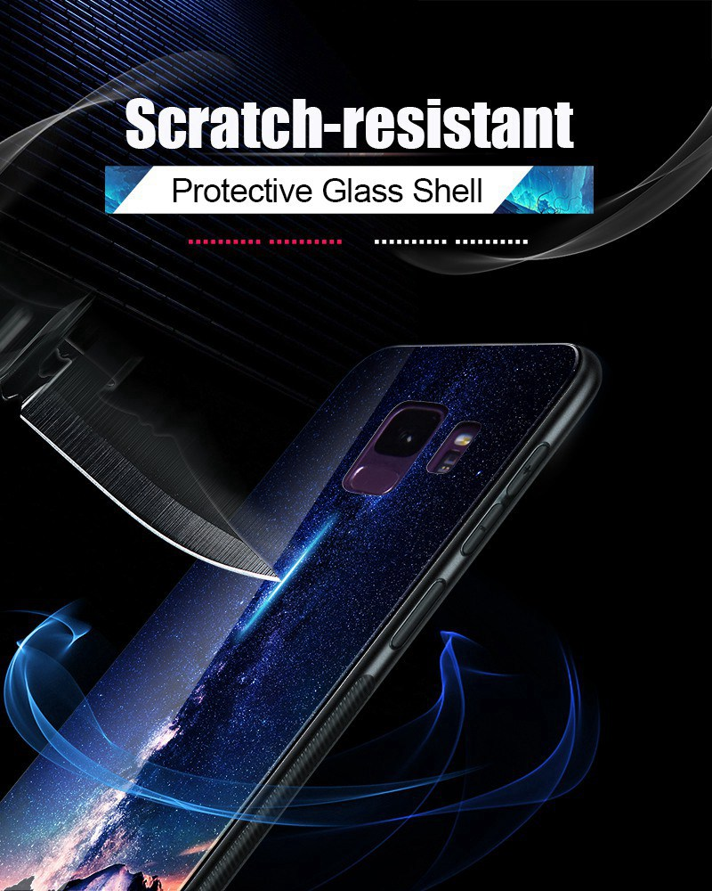 Odifren Space Case for Samsung Galaxy S9 S9 Plus Case Note 9 Tempered Glass Cover Coque Phone Cases for Samsung Galaxy Note 8 9 (10)