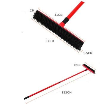 Floor Hair broom Dust Scraper  & Pet rubber Brush Carpet carpet cleaner Sweeper No Hand Wash Mop Clean Wipe Window tool