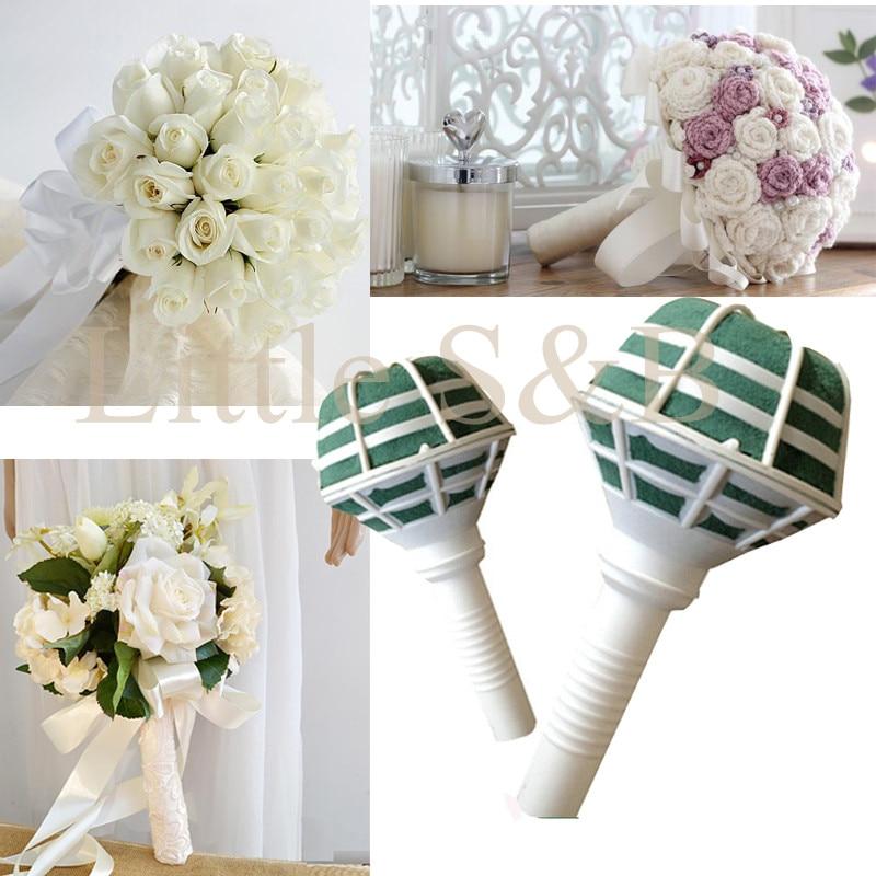 6x Foam Wedding Bouquet Holder Handle Bridal Floral Wedding ...