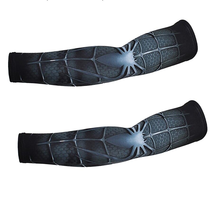 Fake Tattoo Sleeves Arm Warmer Nylon Slip On Ice Slik Sunscreen Uv Cycling Summer Arm Warmers Long Fingerless Sleeve Gloves Punk