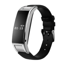 Sport Bluetooth D8S Smart Bracelet Watch Sync Call SMS Anti-lost Health Wristband Sleep Monitor Leather Band for men and women