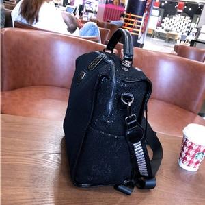 Image 5 - Siatkowa siatkowa opalizująca błyskotka plecak kobiety wysokiej jakości błyszcząca błyszcząca codzienna tornister kobieta kobieta Bagpack torba na ramię