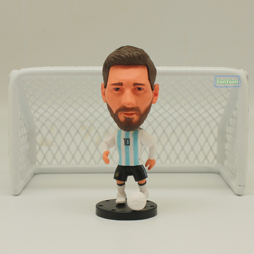 New Arrival Soccer Star 2018 ARG 10# MESSI 6.5 Cm Height Resin Dolls Action Figure Toys
