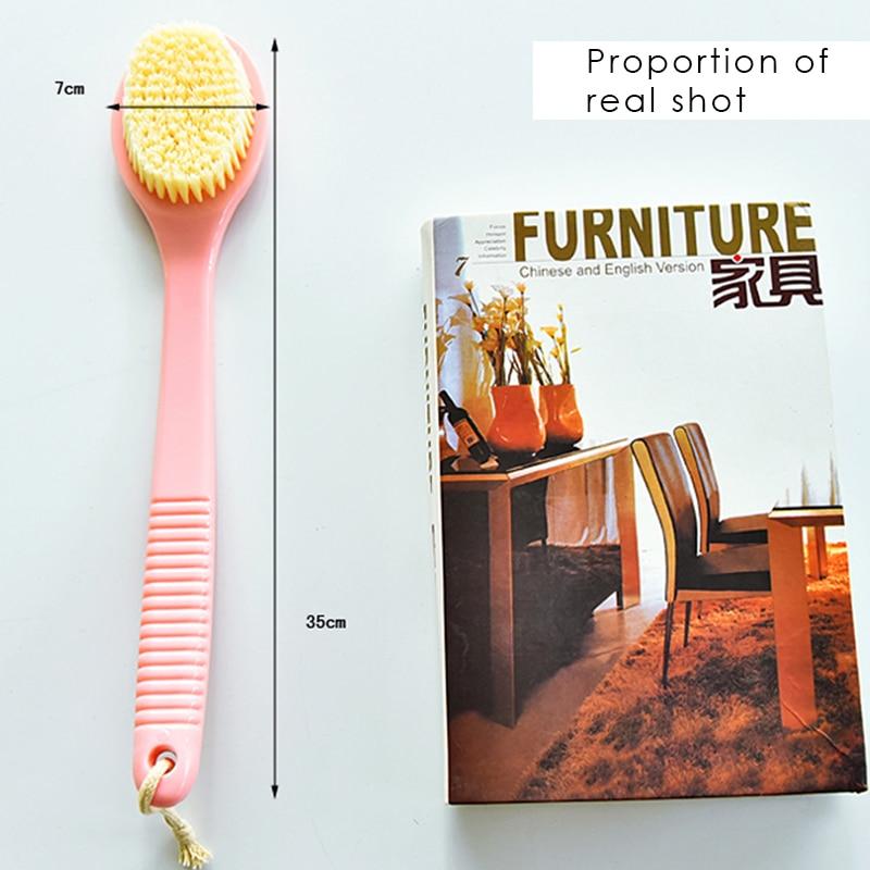 1 stücke bad reinigung massage pinsel langen griff trockenbürste - Haushaltswaren - Foto 6