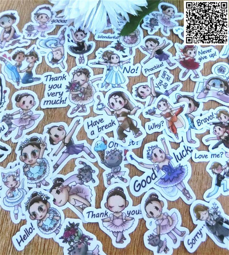 40 pz Misto Ballerina ragazza adesivi per La decorazione Domestica sulla rubrica telefonica macbook autoadesivo del computer portatile della decalcomania frigorifero di doodle di skateboard giocattolo