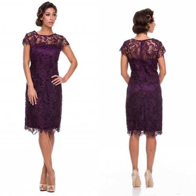 Aliexpress.com : Buy Deep Purple Lace Mother Off The Bride Dresses ...