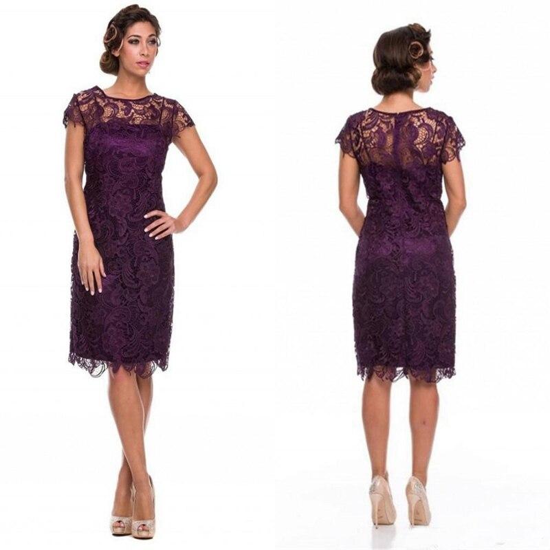 Deep Purple Mother Of The Bride Dress
