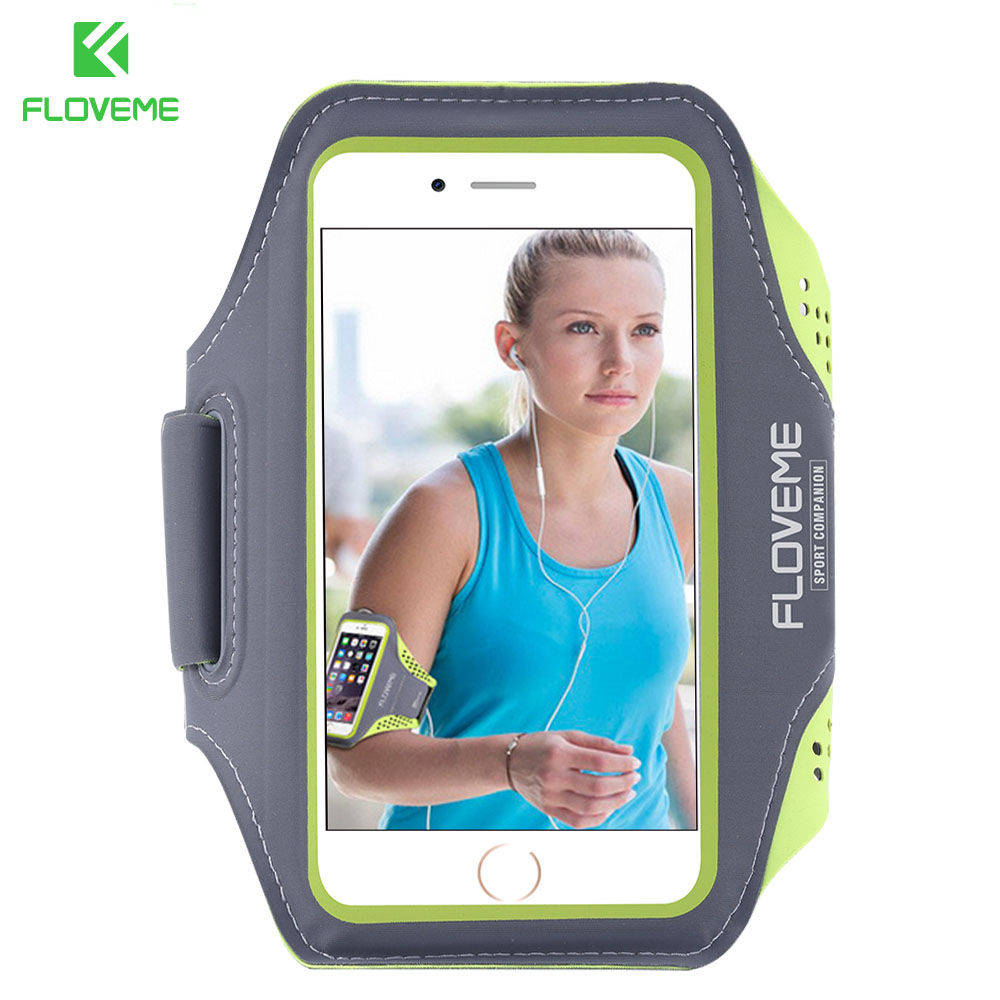 FLOVEME Waterproof Armband For iPhone 6 6S 7 8 Plus Case For Samsung S6 S7 S8 Plus Universal Sport Phone Bag For LG Huawei Redmi