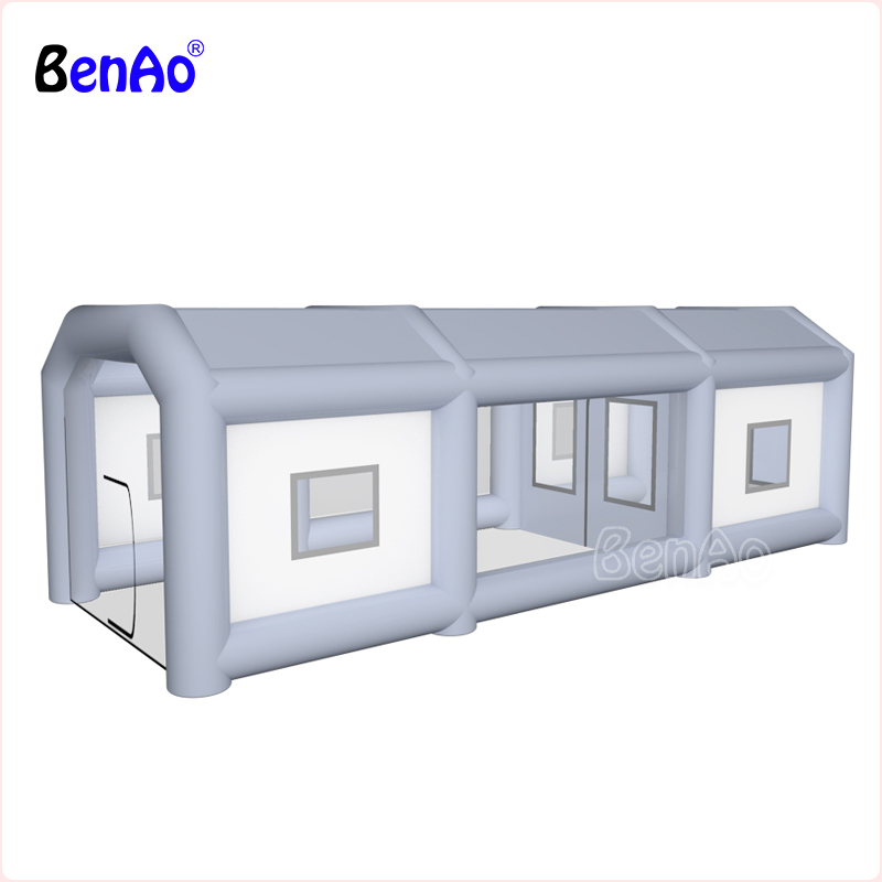 BenAo Inflatable spray booth/paint booth inflatable car paint booth,custom inflatable car spray booth tent,Giant Inflatable tent free shipping inflatable spray paint garage booth tent high quality 8x4 5x3 meters cabine de peinture gonflable toy tents