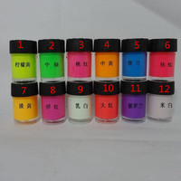 12 Colors Acrylic Paint Glow in the Dark gold Glowing paint Luminous Pigment Fluorescent Powder painting Art supplies
