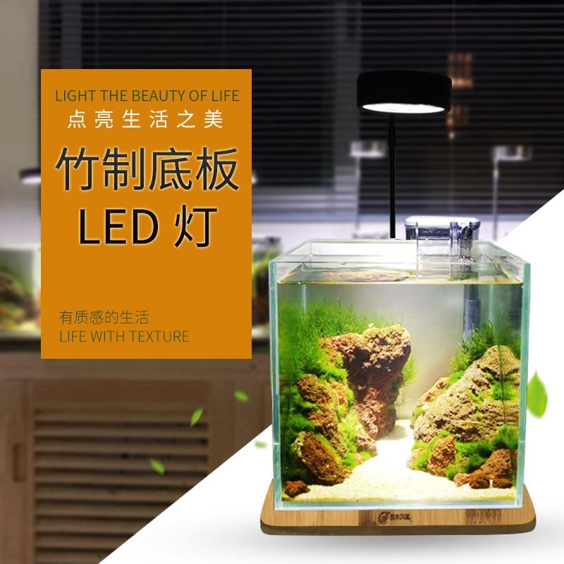 ADA style aquasky LED light Wabikusa mini nano nature wood aquarium water plant grow LED light