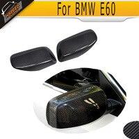 Car Side Mirror Covers for BMW E60 E61 For E60 Convertible 06 08 E61 Convertible 06 09 Carbon Fiber Rearview Mirror Cover Caps