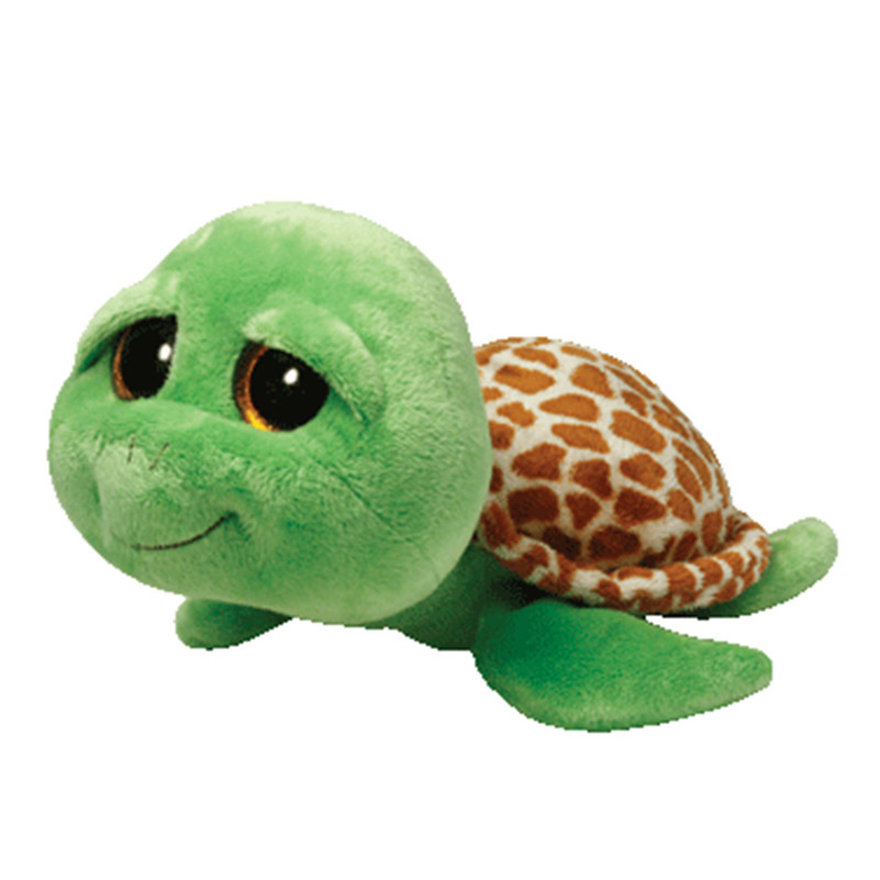 TY Beanie Boos Original 9.8 25cm Zippy the Green Turtle Stuffed Animal Collectible Big Eyes Doll Toy Children Birthday Gift stuffed animal 44 cm plush standing cow toy simulation dairy cattle doll great gift w501