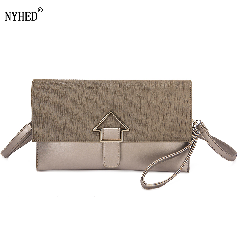 NYHED Lady clutch Handbags For Women Party Evening Purse Fashion Female Pu Top-handle Envelope Bags