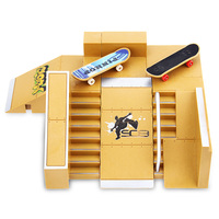 5pcs Skate Park Kit Ramp Parts For Tech Deck Fingerboard Excellent Gift For Extreme Sports Enthusiasts