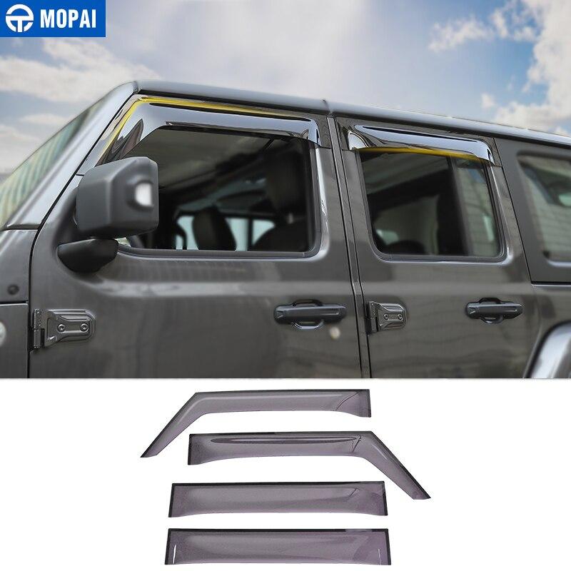 MOPAI Car Window Visors for Jeep Wrangler JL 2018 Car Windows Sunvisor Cover Rain Sun Visor