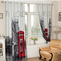 """[55""""x102"""" ] British Curtains Made ready 1 PANEL LINED THERMAL BLACKOUT GROMMET WINDOW CURTAIN DRAPE Curtains With London"""