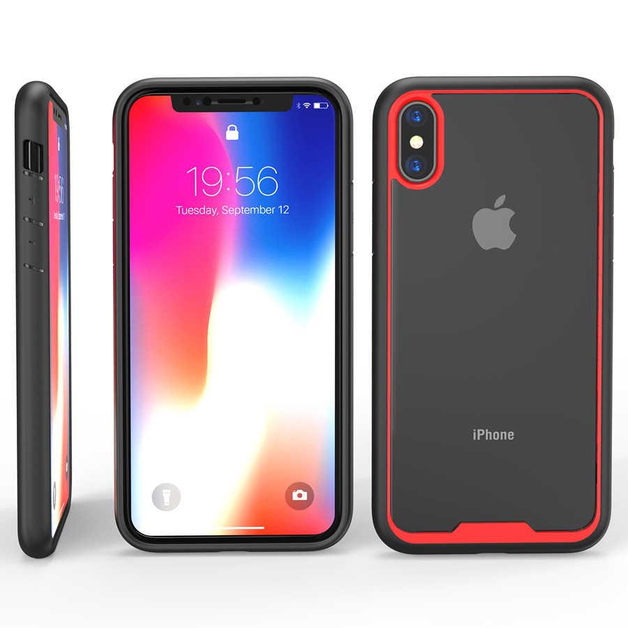 IQD iPhone X XS Max XR 7 8 6 6s artı kılıfları TPU tampon şeffaf arka kapak koruyucu kılıf Anti düşme çizik önleme