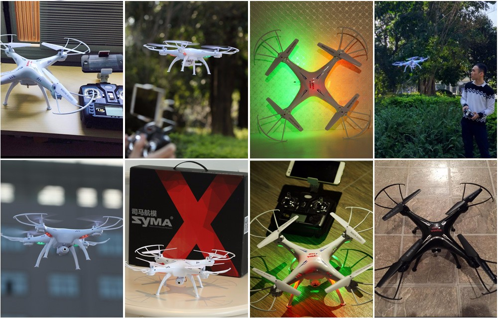 SYMA Official X5SW Drones with Camera HD WiFi FPV Real Time transmission RC Helicopter Quadrocopter RC Dron with Extra Battery 22