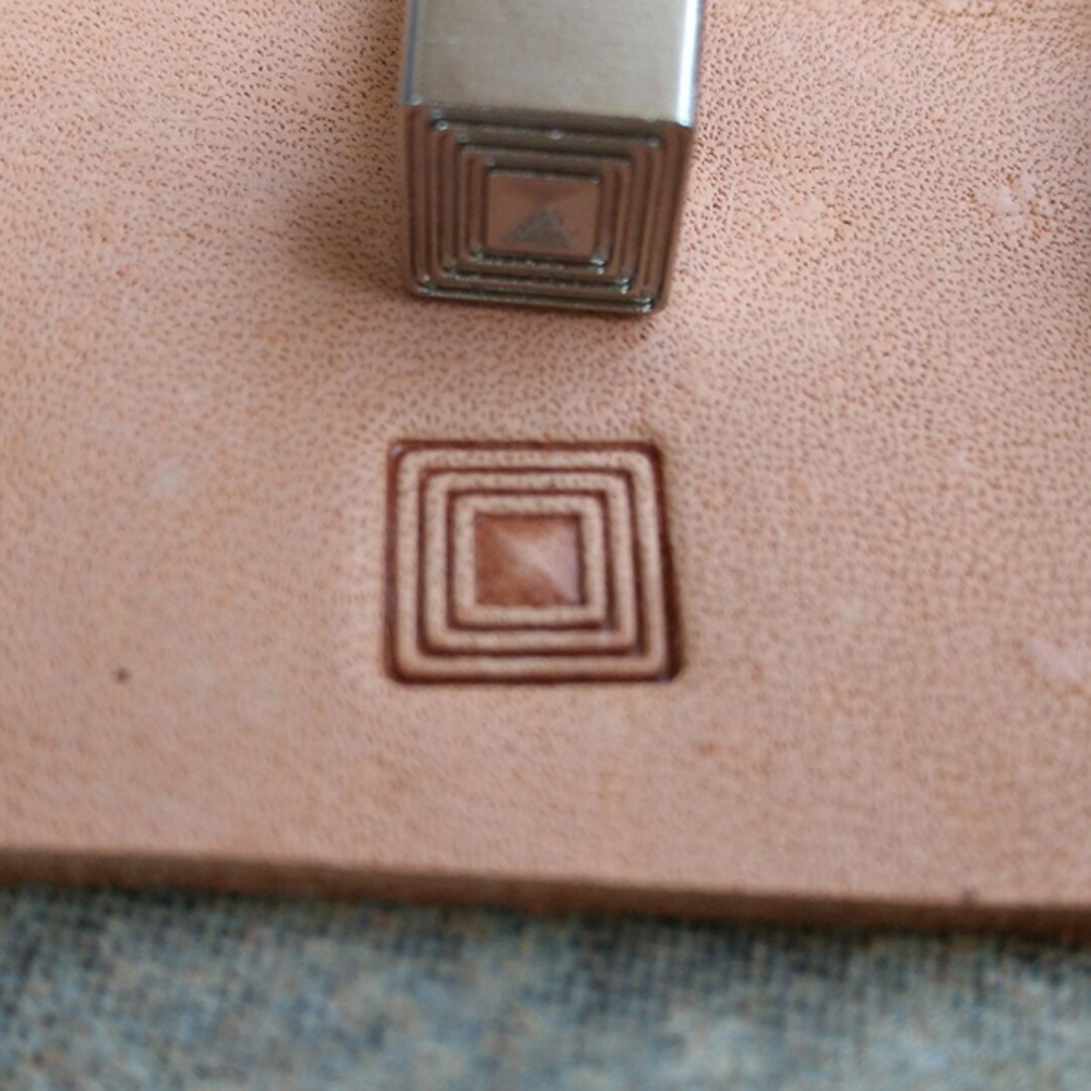 Quality CNC Work Steel Material Durable Leather Stamping Tool Square Pattern Cowhide Art Mould 8x8mm