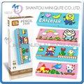 Mini Qute LOZ super Mario Hello Kitty Spiderman Lápiz-caja de diamante bloque de cubo de plástico bloques de construcción de ladrillos de juguetes educativos