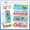 Mini Qute LOZ super Mario Hello Kitty Spiderman Pencil-box diamond block plastic cube building blocks bricks educational toy