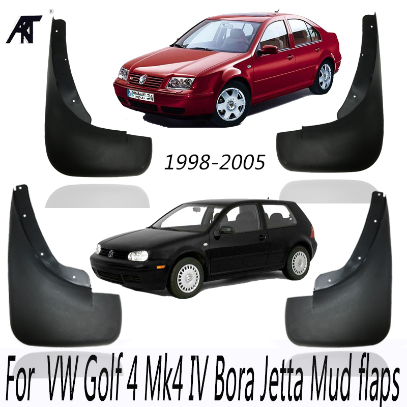 Mud Flaps For 1998-2005 <font><b>VW</b></font> Golf 4 Mk4 IV Bora Jetta <font><b>Mudflaps</b></font> Splash Guards Front Rear Mud Flap Mudguard 2000 2001 2002 2003 2004 image