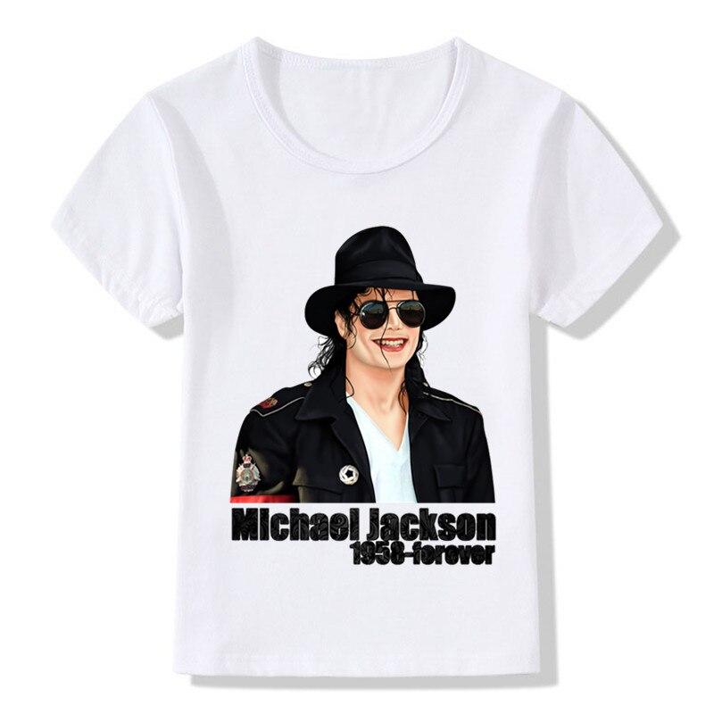 Useful Bambini Ragazzi Ragazze Michael Jackson Silhouette T-shirt King Of Pop Tribute Bambino: Abbigliamento Bambini 2 - 16 Anni