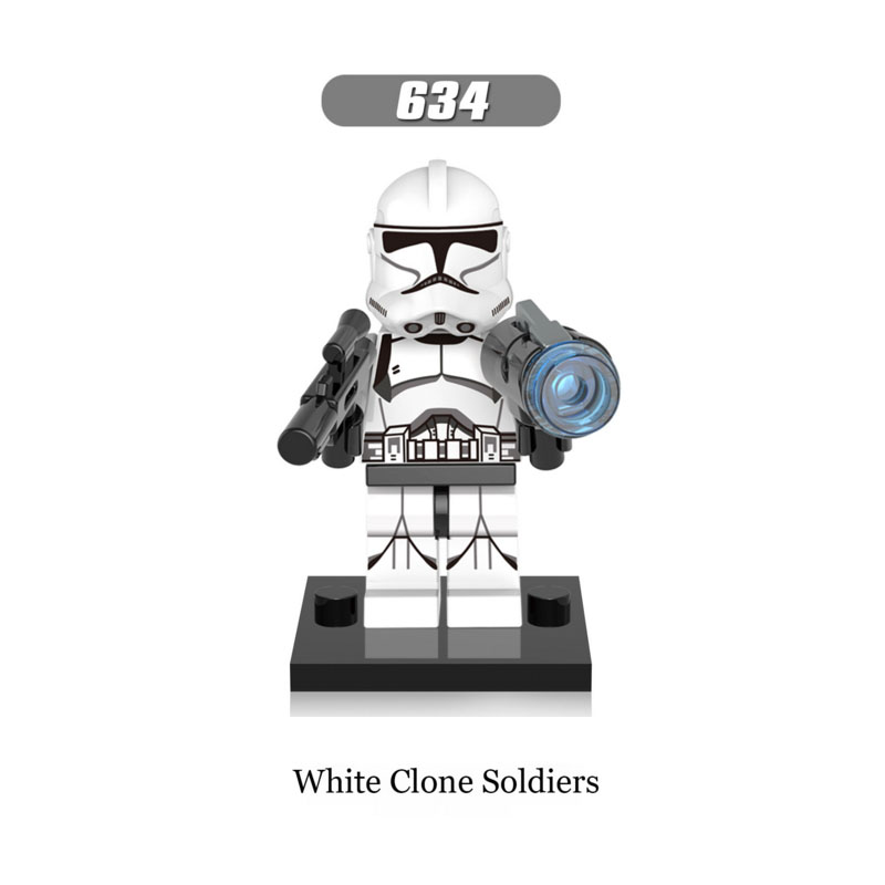 Single Sale Super Heroes Star Wars 634 white clone soldirers Building Blocks Figure Brick Toy kid gift Compatible Legoed Ninjaed