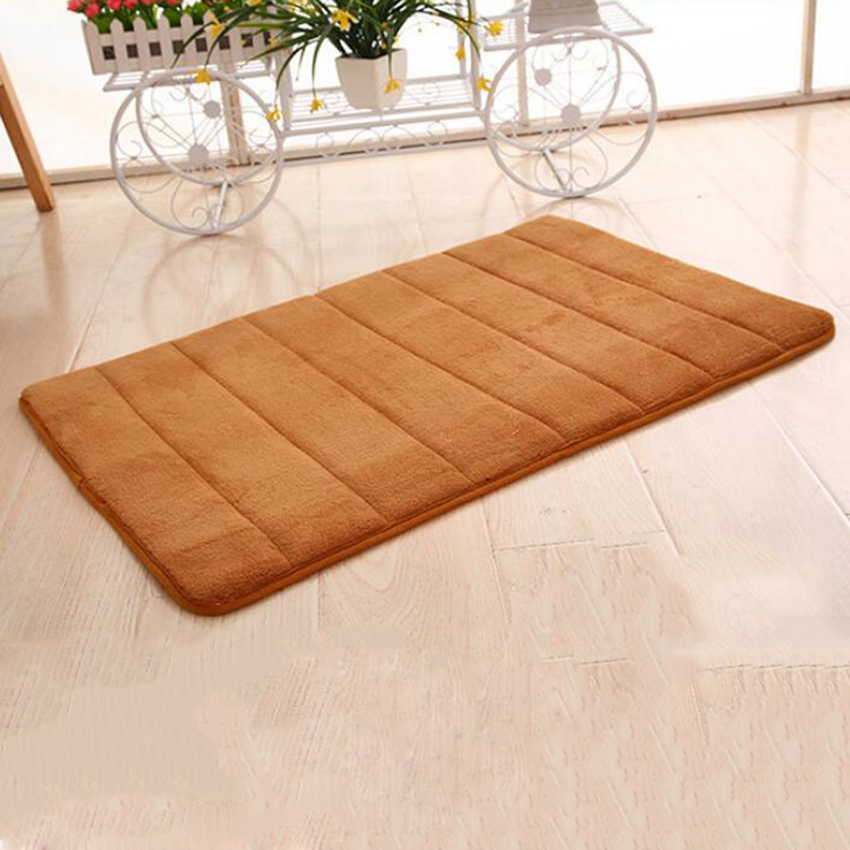 New Absorbent Memory Foam Bath Mat Slip Resistant Pad