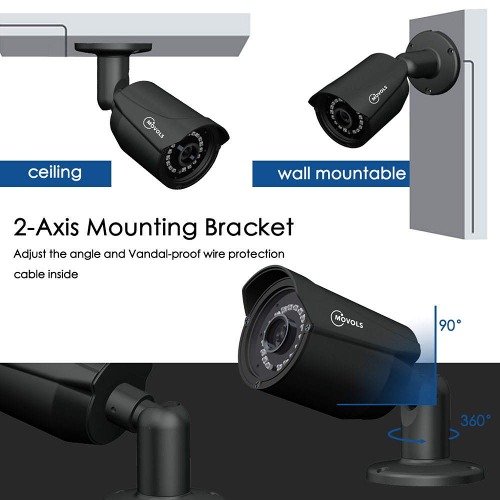 MOVOLS CCTV Security Camera And Outdoor Video Surveillance System Kit With DVR