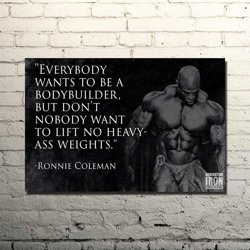 RONNIE COLEMAN-Binaraga Motivational Penawaran Art Silk Cetak Poster 13x20 24x36 inches Gym Room Decor kebugaran Olahraga Gambar 013
