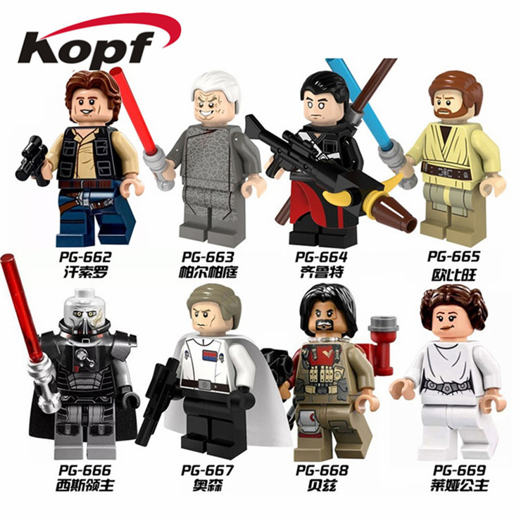 Single Sale Han Solo Palpatine Qilu special Obi-Wan Sith Lord Orson Baez Princess Leia Building Blocks Children Gift Toys PG8024 new fx3u 64ccl special function blocks