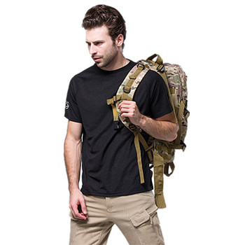 Na świeżym powietrzu T Shirt S-XXXL mężczyźni wojskowy letnia koszulka na świeżym powietrzu oddychająca szybkie suche siłownia jednolity kolor odzież marki Camiseta tanie i dobre opinie Tees Camping i piesze wycieczki Patchwork ESDY Krótki Coolmax Poliester Camping Hiking Fits true to size take your normal size
