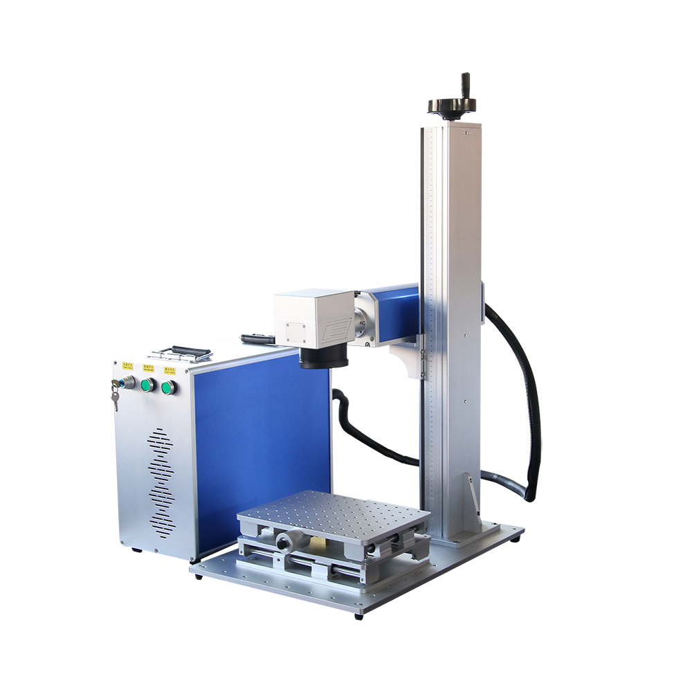 30w Raycus Fiber Laser Metal Marking Engraving Machine 300*300mm With Ring Rotary Or Chuck Rotary Laser Engaver