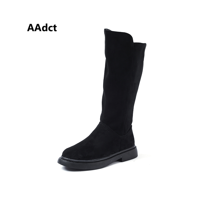AAdct New cotton girls high boots Fashion kids boots children leather warm princess boots 2018 autumn and winter Brand new style 2017 girls classical boots autumn and spring fashion leather boots with bow bottom princess warm high quality shoes