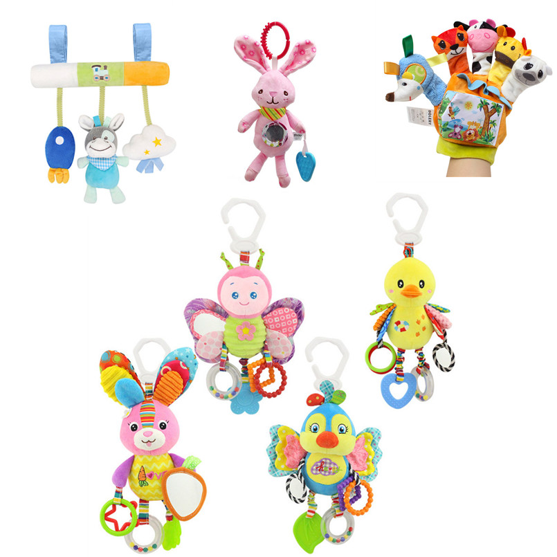 Baby Toys 0-12 Months Comfort Soft Toys For Baby Rattles Stroller Educational Music Bed Bell Teether Plush Toys For Infant Baby
