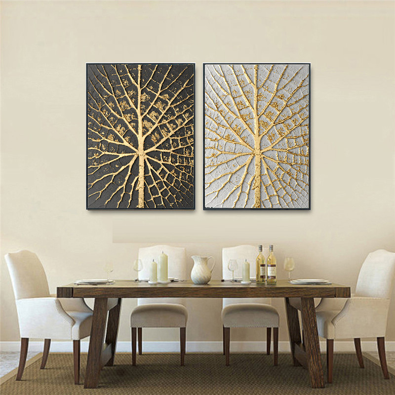 US $3.5 40% OFF|Gold Luxury Abstract Vintage Nordic Home Wall Art Decor  Poster Living Room Picture Retro Minimalist Bedroom Art Decor Painting-in  ...