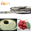 DC12V High CRI90 SMD2835 1116LM/M LED Light Strip White Flexible Strip Lighting 60LEDs 12W /M 8mm Wide White PCB Non-waterproof