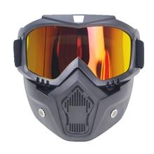Motorcycle Glasses Snowboard Men Women Sports Windproof Eyewear Motocross Riot Control Downhill Bike Ski Goggles Vintage goggle