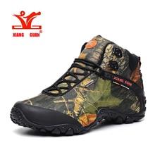 2017 XIANG GUAN High Hiking Shoes Womens Climbing Walking Camo Sneakers Man Outdoor Fishing Athletic Trekking Boots Lovers 36-48