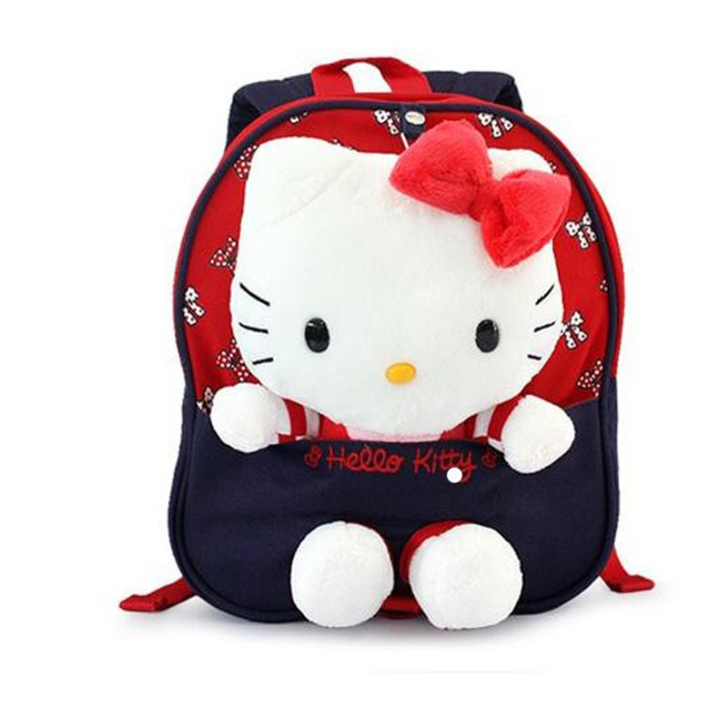 Cute Hello Kitty Backpacks Children Cartoon School Bags For girls SchoolBag Kids bookbag Kindergarten Baby Bag Mochila Escolar wholesale cute oxford 16 inch landscape black bookbag for teenager boys school bags for children schoolbag for kids shoulder bag