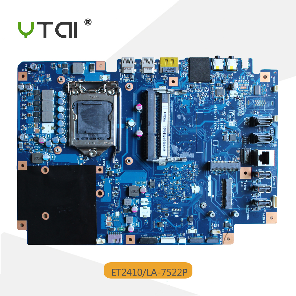 YTAI ET2410 ET2410I motherboard PCA70 LA-7522P REV:1A All-in-one motherboard for ASUS for asus 23 6 et2410 laptop motherboard mainboard la 7522p 100% tested fast ship