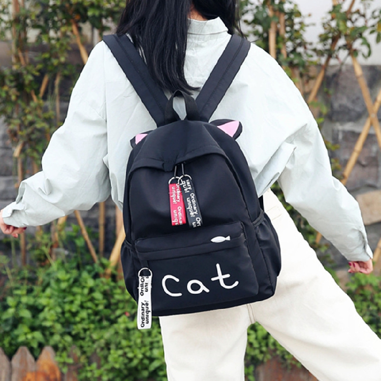 Japanese Harajuku Cat Backpack 1