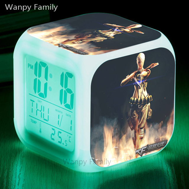 online game cross fire alarm clocks glowing led color change digital rh aliexpress com Analog Alarm Clock Alarm Clock Going Off