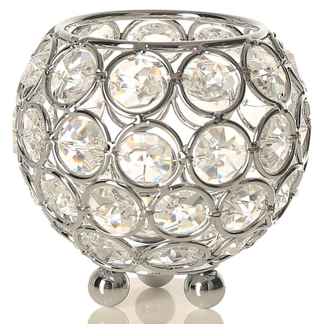 Terrarium Kristall Kerze Schüssel Halter Glas Teelicht Laterne Für